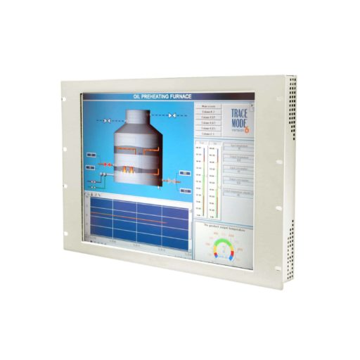 """Industrie Monitor: RPAD-817 17"""" Rackmount Monitor IP65 Front"""