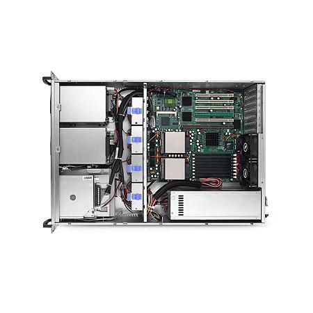 SX368 - above view 4x lüfter innen3 HE High-End Industrie Server Intel Xeon 8. Gen. oder Cascade Lake